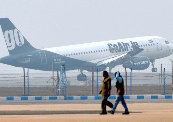 Airplane at delhi Airport